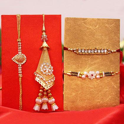 5 rakhi sets