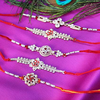 silver rakhi online