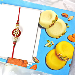 Rakhi with Delightful Peda
