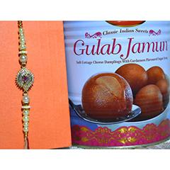 Dazzling Rakhi with Gulab Jamun