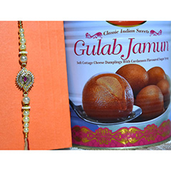 Dazzling Rakhi with Gulab Jamun /></a></div><div class=