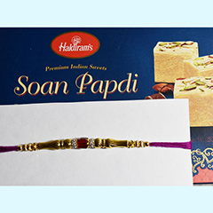 Sweet with Golden Rakhi