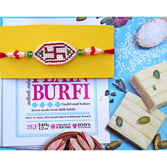 Swastika Rakhi with Burfi