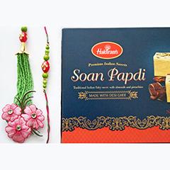 Floral Rakhi n Sweet
