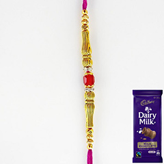 Charming Rakhi with Chocolate