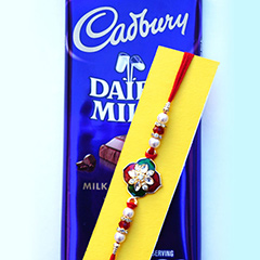 Dazzling Rakhi with Chocolate