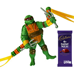 Ninja Turtle Rakhi with Chocolate