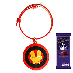 Chocolate with Ironman Rakhi
