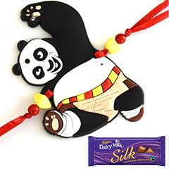 Kung Fu Panda Rakhi with Chocolate