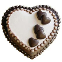 2kg Eggless Heart Chocolate Cake