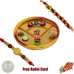 Shree Rakhi Thali with Free Silver Coin
