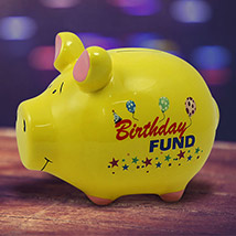 Birthday Fund Piggy Bank