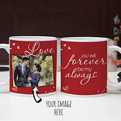 Personalized Photo and Quotes Mugs Set