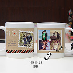 Personalized Couple Photos Mugs Set