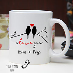 Two Love Birds Personalized Mug