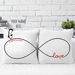 Personalized Name Cushions Pair for Couples