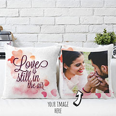 Love In the Air Personalized Cushion Pair