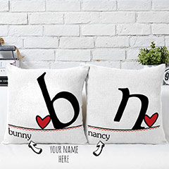 First Letter Of Names Personalized Cushions Set