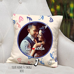 He Loves She Personalised Cushion