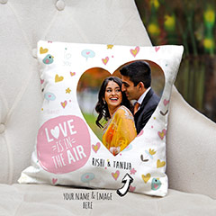 Photo in Heart Personalized Cushion