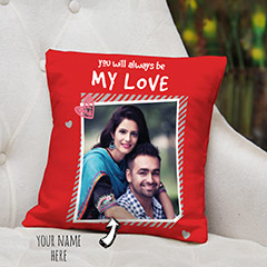 My Love Red Personalized Cushion