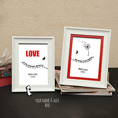 Love Established Personalized Photo Frames
