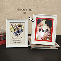 Heart shaded Personalized Photo Frames