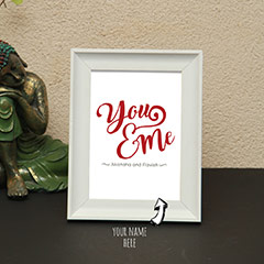 You and Me Printed Personalized Photo Frame