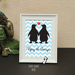 Penguin Names Personalized Photo Frame