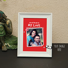 Be My Love Red Personalized Photo Frame