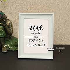 You and Me Personalized Name Photo Frame