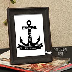 Designer Printed Names personalized Photo Frame