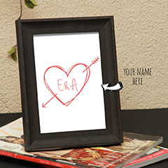 Names in Heart Personalized Photo Frame