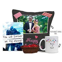 Romantic Love Combo of Personalized Gifts with Mug and Card