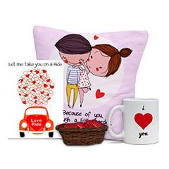 Love Ride Card and Cushion Combo with Mug and Cushion