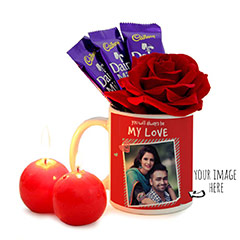 Valentine Red Surprise Romantic Combo