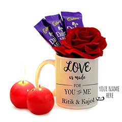 You and Me Personalized Valentine Surprise with Chocolates