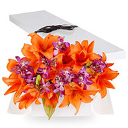 orchid lilly Flat box