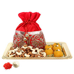 Golden Tray with Delicious Bites-UAE