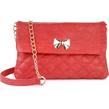 Casual Crossed Pattern Sling Bag (Red) /></a></div><div class=
