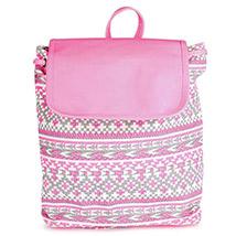 Printed Canvas Backpack (Pink)