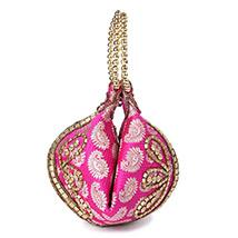 Ethnic Designer Potli (Pink)