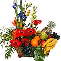Special Fruit n Flower Basket