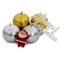 Ball Candles N Santa