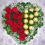 Roses with Ferrero