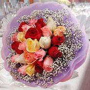 20 Mixed Roses Posy