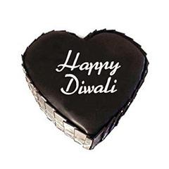 Heart Shape Diwali Cake - Diwali Gifts