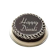 Round Chocolate Deepavali Cake - Diwali Gifts