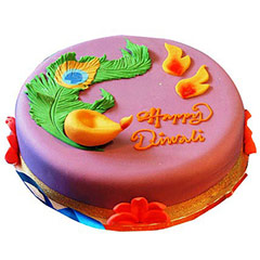 Beautiful Deepavali Cake 1kg - Diwali Gifts