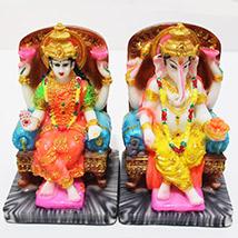 Intricate Laxmi Ganesha